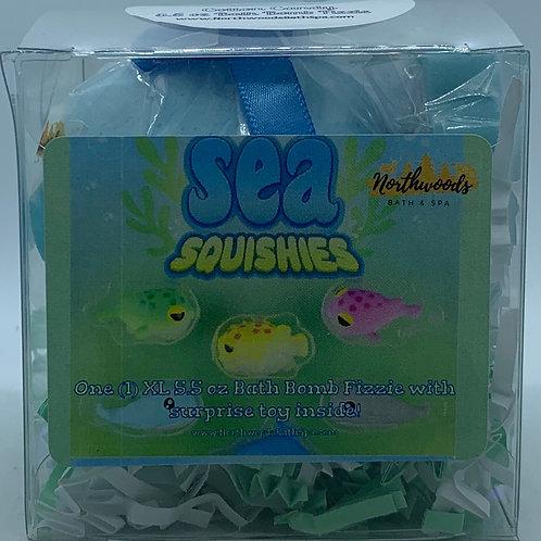 Sea Squishies (Cotton Candy) 5.5 oz Bath Bomb Gift Set