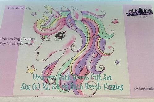 Lil' Unicorns 6-pack Bath Bomb Gift Set