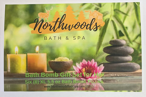 Bath Bomb Gift Set for Her 6-pack (b)