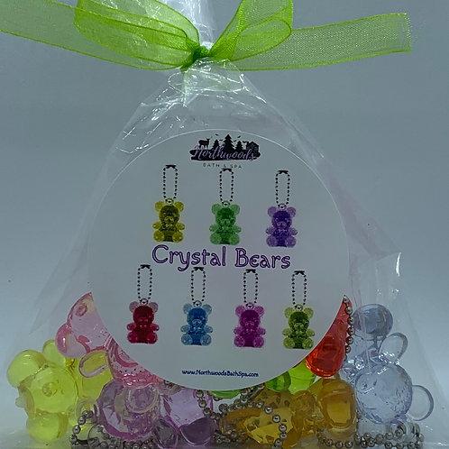 Crystal Bears Keychain Toys - Set of 8