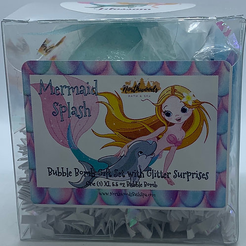 "Mermaid Splash ""Blossom"" 5.5 oz Bubble Bomb Gift Set"