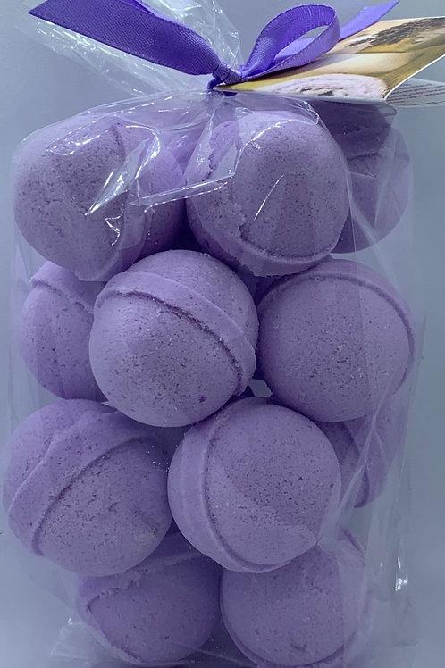 Lavender Chamomile 14-pack Bath Bomb Fizzies (round balls)