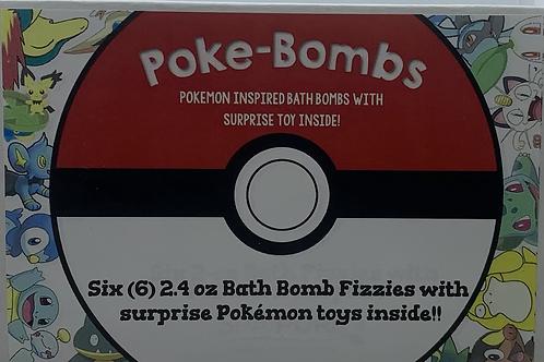 Poke-Bombs 6-pack 2.4 oz Bath Bomb Gift Set