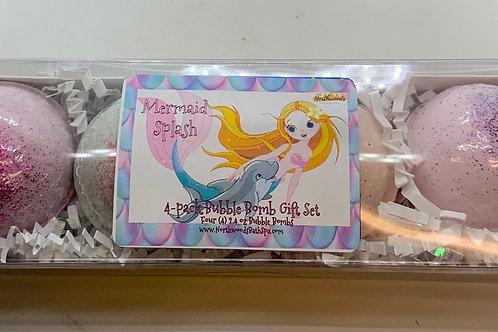 Mermaid Splash 4-pack Bubble Bomb Gift Set
