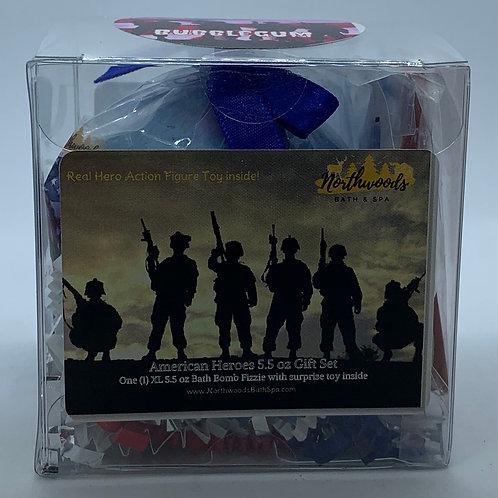 American Heroes (Bubblegum) 5.5 oz Bath Bomb Gift Set