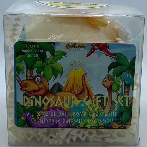 Colossal Dinosaur (Clementine) XXL 8 oz Bath Bomb Gift Set