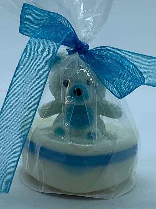 "Squishy White Teddy Bear 1 oz ""Snuggable"" Soap"