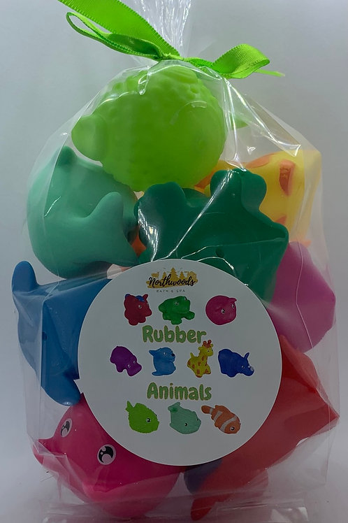 Rubber Animals Toys - Set of 10