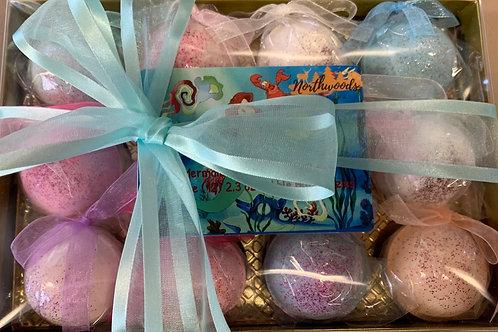 Mermaid 12-pack Bubble Bomb Gift Set
