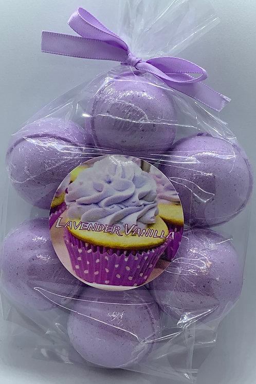 Lavender Vanilla 7-pack Bath Bomb Fizzies
