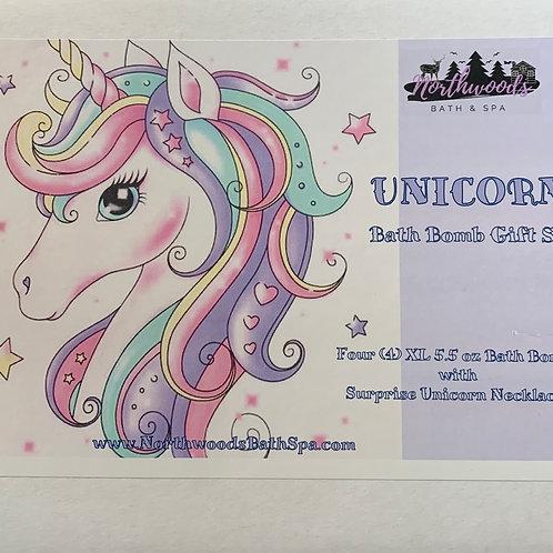 Unicorn Necklace 4-pack Gift Set