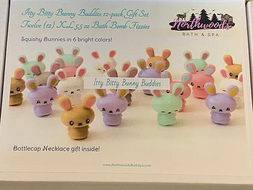 Large 5.5 oz Itty Bitty Bunny Buddies 12-pack Bath Bomb Gift Set