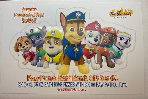 Paw Patrol 6-pack Bath Bomb Gift Set (#1)