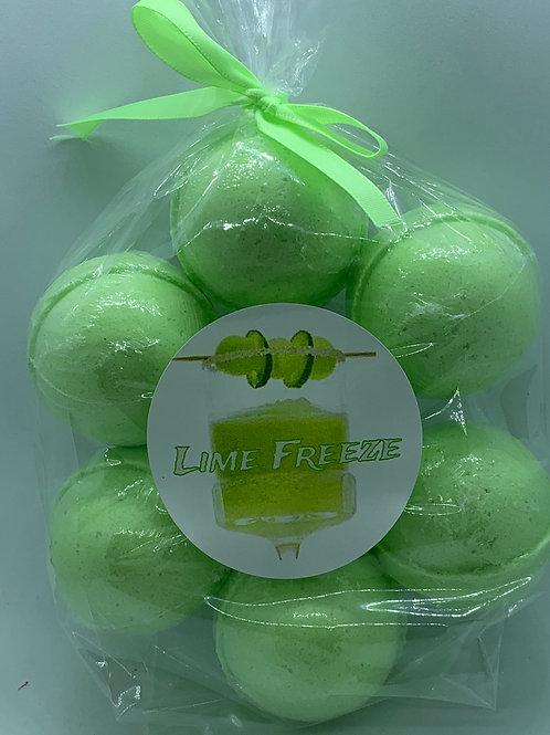 Lime Freeze 7-pack Bath Bomb Fizzies