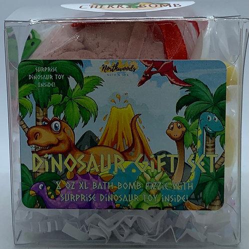 Colossal Dinosaur (Black Cherry Bomb) XXL 8 oz Bath Bomb Gift Set