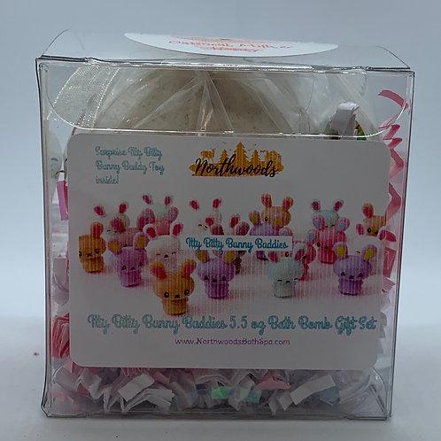 Itty Bitty Bunny Buddies (Oatmeal, Milk & Honey) 5.5 oz Bath Bomb Gift Set