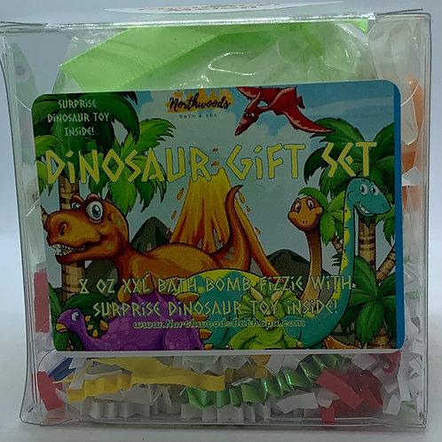 Colossal Dinosaur (Cucumber Melon) XXL 8 oz Bath Bomb Gift Set (green)