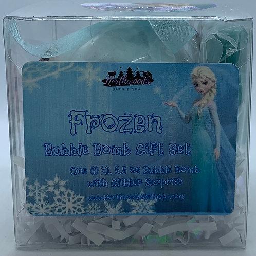 """Frozen """"Cotton Candy"""" 5.5 oz Bubble Bomb Gift Set"""