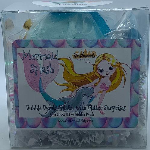 "Mermaid Splash ""Dreams"" 5.5 oz Bubble Bomb Gift Set"