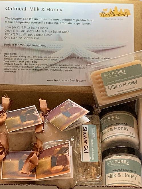 Oatmeal, Milk & Honey Luxury Spa Kit Gift Set