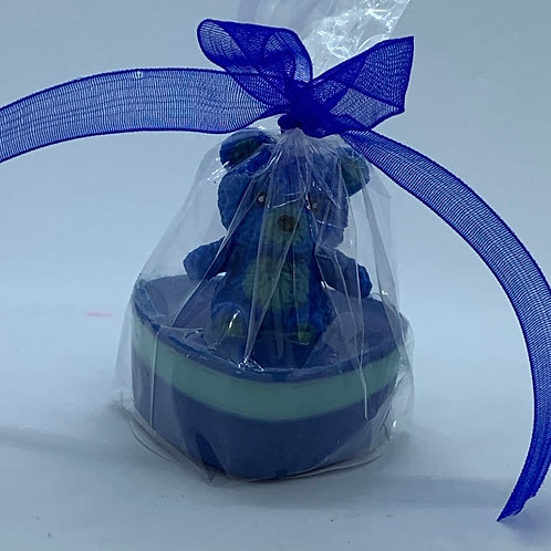 "Squishy Blue Teddy Bear 1 oz ""Snuggable"" Soap"