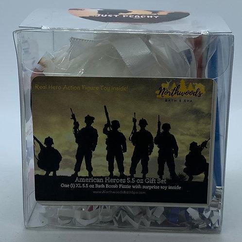 American Heroes (Just Peachy) 5.5 oz Bath Bomb Gift Set
