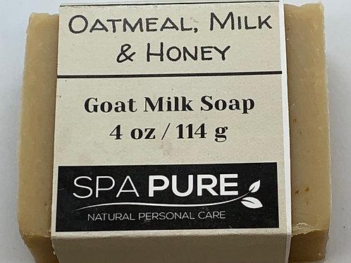 Oatmeal, Milk & Honey Luxury Goat Milk Soap