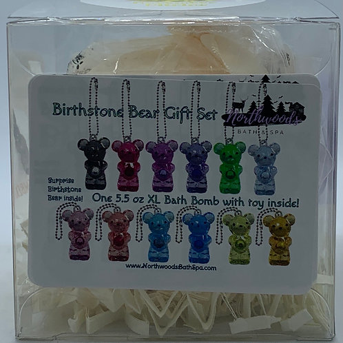 Birthstone Bears Keychain (November) 5.5 oz Bath Bomb Gift Set