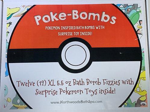 Large 5.5 oz 12-pack Poke-Bomb Bath Bomb Gift Set