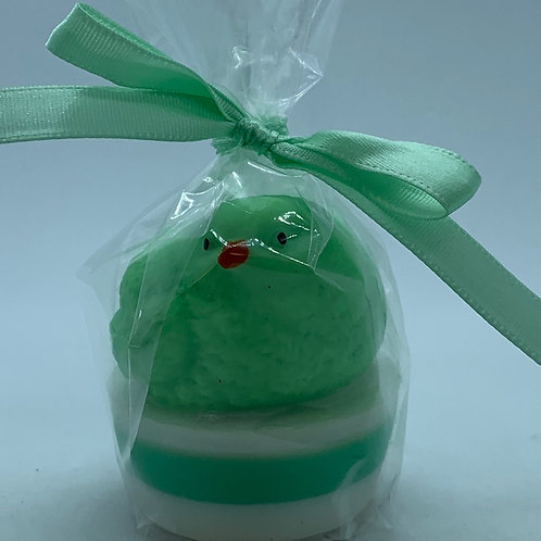 """Squishy Green Chick 1.4 oz """"Easter Bunny Burps"""" Soap"""