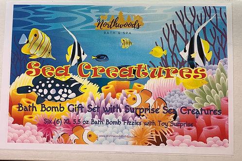 Sea Creatures 6-pack Bath Bomb Gift Set