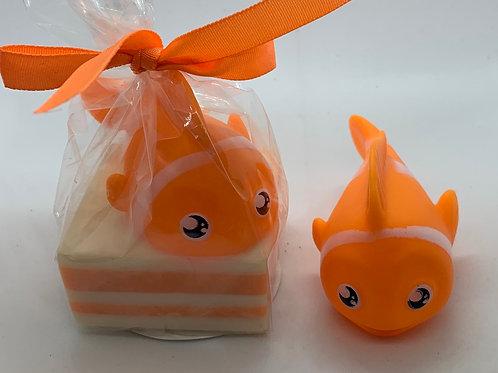 Clown Fish Rubber Animal 2.5 oz Jungle Love Soap