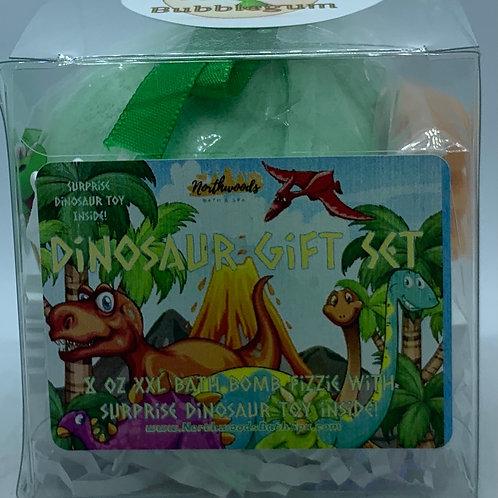 Colossal Dinosaur (Bubblegum) XXL 8 oz Bath Bomb Gift Set (green)