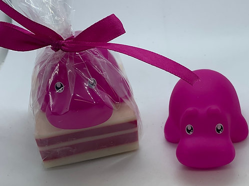 Hippopotamus Rubber Animal 2.5 oz Jungle Love Soap