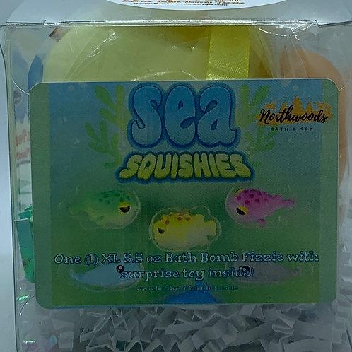 Sea Squishies (Georgia Peach) 5.5 oz Bath Bomb Gift Set