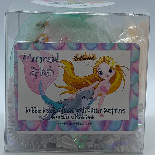 "Mermaid Splash ""Wishes"" 5.5 oz Bubble Bomb Gift Set"