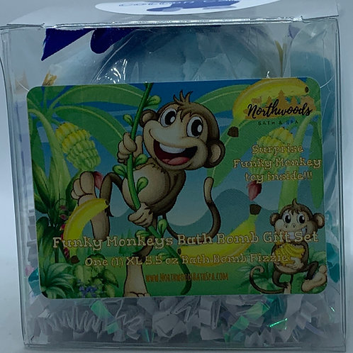 Funky Monkeys (Cotton Candy) 5.5 oz Bath Bomb Gift Set