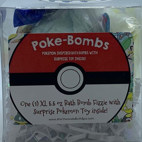 Poke-bomb (Mareep) 5.5 oz Bath Bomb Gift Set (Cotton Candy)