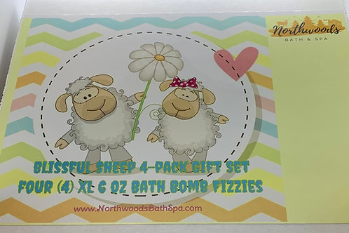 Blissful Sheep 4-pack Gift Set