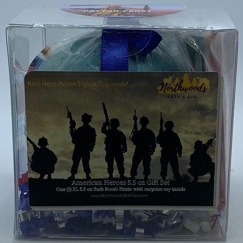 American Heroes (Cotton Candy) 5.5 oz Bath Bomb Gift Set
