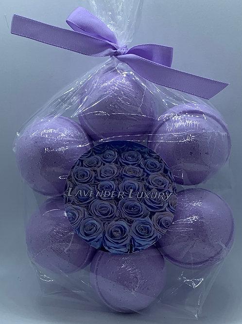 Lavender Luxury 7-pack Bath Bomb Fizzies