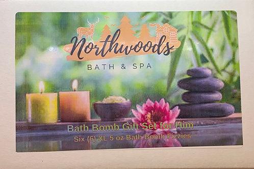 Bath Bomb Gift Set for Him 6-pack