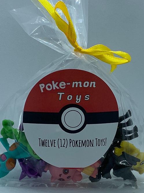 Poke-mon Toys - Set of 12