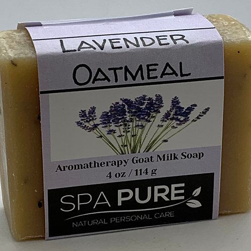 Lavender Oatmeal Aromatherapy Goat Milk Soap