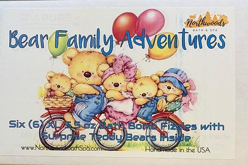 Bear Family Adventures 6-pack Bath Bomb Gift Set