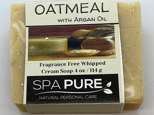 Oatmeal with Argan Oil Fragrance-free Facial Bar Whipped Cream Soap