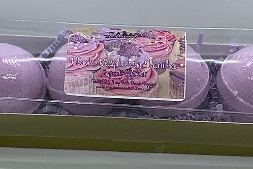 Black Raspberry Vanilla 4-pack Bath Bomb Gift Set