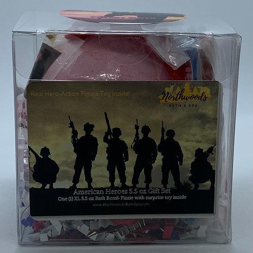 American Heroes (Cherry Slush) 5.5 oz Bath Bomb Gift Set