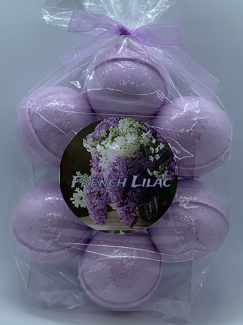French Lilac 7-pack Bath Bomb Fizzies