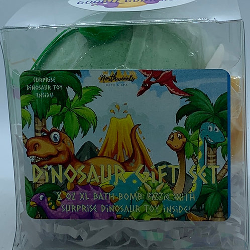 Colossal Dinosaur (Goodie Goodie Gumdrops) XXL 8 oz Bath Bomb Gift Set